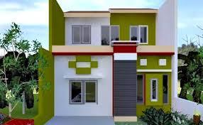 10 Desain Rumah Dengan Perpaduan Warna Cerah 1