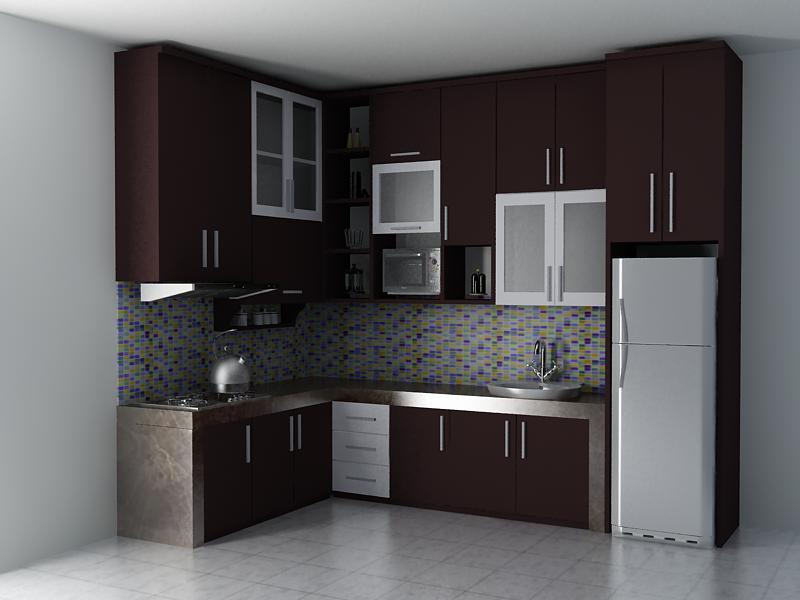 10 gambar kitchen set minimalis terpopuler rumah impian for Gambar kitchen set minimalis