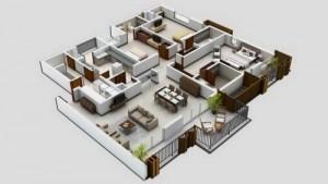 12 Desain Rumah Minimalis 3 Kamar Tidur Praktis 1