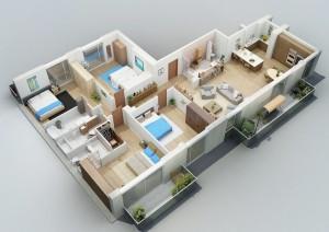 12 Desain Rumah Minimalis 3 Kamar Tidur Praktis 10