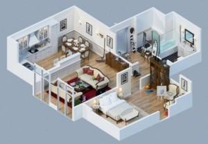 12 Desain Rumah Minimalis 3 Kamar Tidur Praktis 11