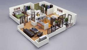 12 Desain Rumah Minimalis 3 Kamar Tidur Praktis 12