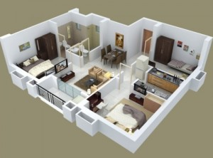 12 Desain Rumah Minimalis 3 Kamar Tidur Praktis 2