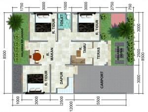 12 Desain Rumah Minimalis 3 Kamar Tidur Praktis 3