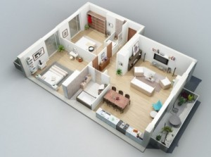 12 Desain Rumah Minimalis 3 Kamar Tidur Praktis 5
