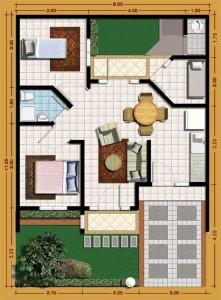 12 Desain Rumah Minimalis 3 Kamar Tidur Praktis 6