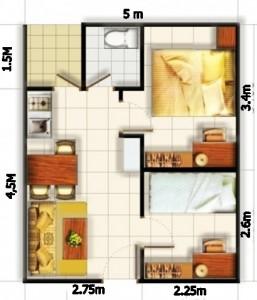 12 Desain Rumah Minimalis 3 Kamar Tidur Praktis 8