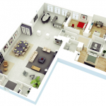 18 Desain Rumah 3D Minimalis Modern
