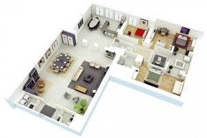 18 Desain Rumah 3D Minimalis Modern 1