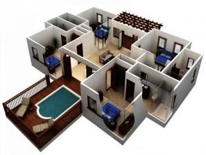 18 Desain Rumah 3D Minimalis Modern 11