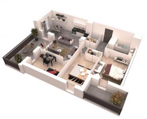 18 Desain Rumah 3D Minimalis Modern 12