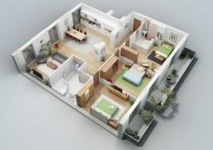 18 Desain Rumah 3D Minimalis Modern 14