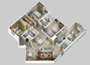 18 Desain Rumah 3D Minimalis Modern 17