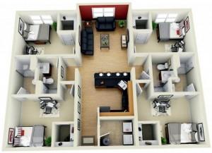 18 Desain Rumah 3D Minimalis Modern 18