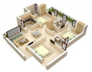 18 Desain Rumah 3D Minimalis Modern 9