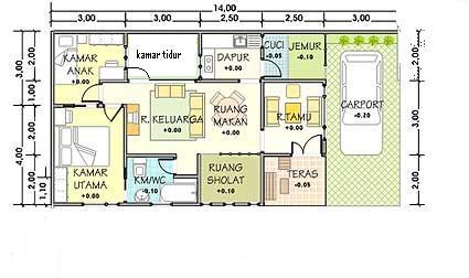 11 denah rumah 3 kamar tidur impian rumah impian