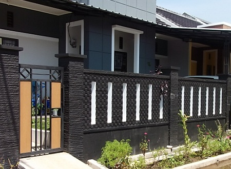 kumpulan rumah minimalis tampak depan dengan batu alam