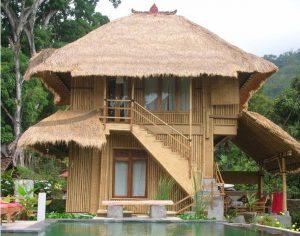 12 Aneka Model Rumah Bambu Jawa Barat Menarik3