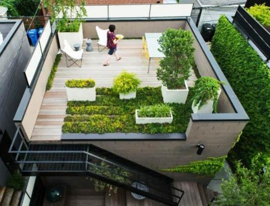 12 Model Taman Di Atap Cantik dan Nyaman RUMAH IMPIAN