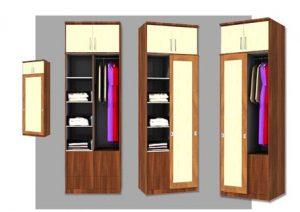 10 Desain Lemari Baju Kecil Minimalis Unik 3