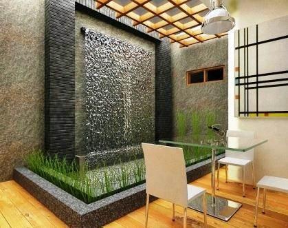14 model desain air mancur dingding batu alam   rumah impian