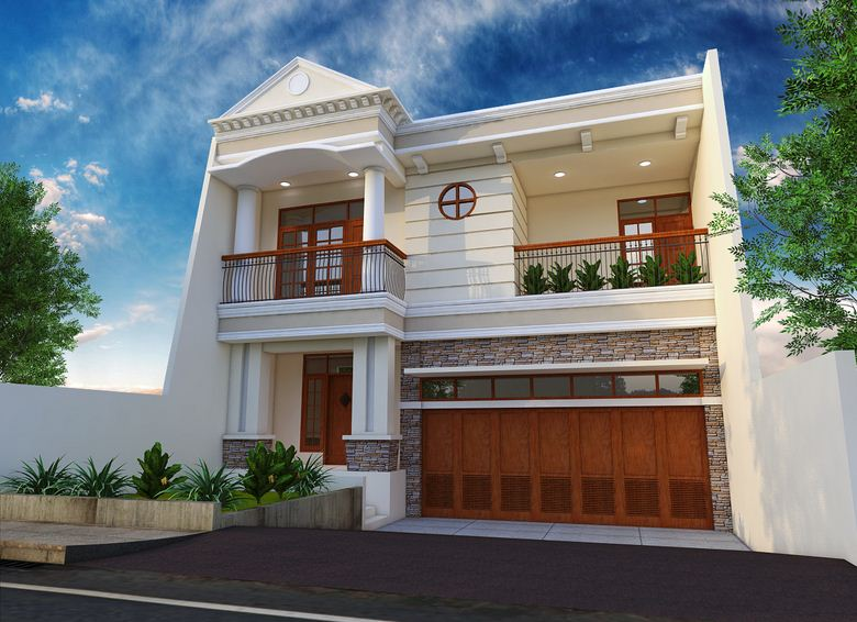 17 model rumah klasik modern 2 lantai mewah rumah impian