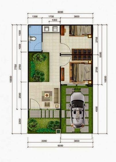 25 denah rumah type 36 minimalis 1 dan 2 lantai rumah impian