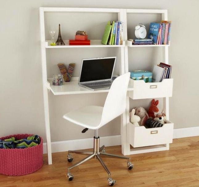 25 model meja belajar modern terbaru rumah impian. Black Bedroom Furniture Sets. Home Design Ideas