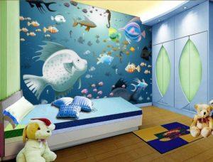 42 contoh lukisan di dinding kamar anak anak dan remaja - Murales cameretta bimbi ...