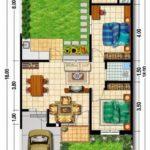 50 Sketsa / Denah Rumah Minimalis Type 60