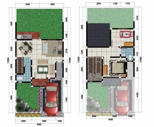 50 sketsa denah rumah minimalis type 60 rumah impian