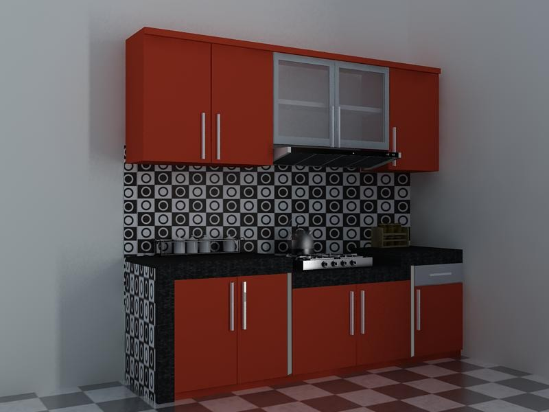 Daftar harga dan model kitchen set minimalis modern for Harga paket kitchen set minimalis