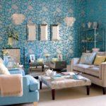 17 Contoh Wallpaper Dinding Ruang Tamu Elegan