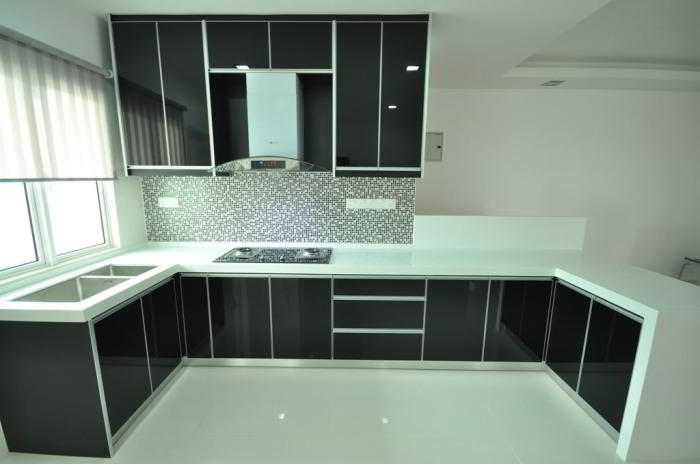 Daftar harga dan model kitchen set minimalis modern for Harga kitchen set aluminium minimalis