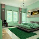 13 Desain Kamar Tidur Warna Hijau Tosca