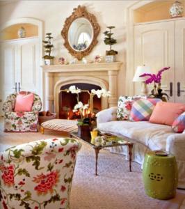 50 hiasan bunga di ruang tamu minimalis modern | rumah impian