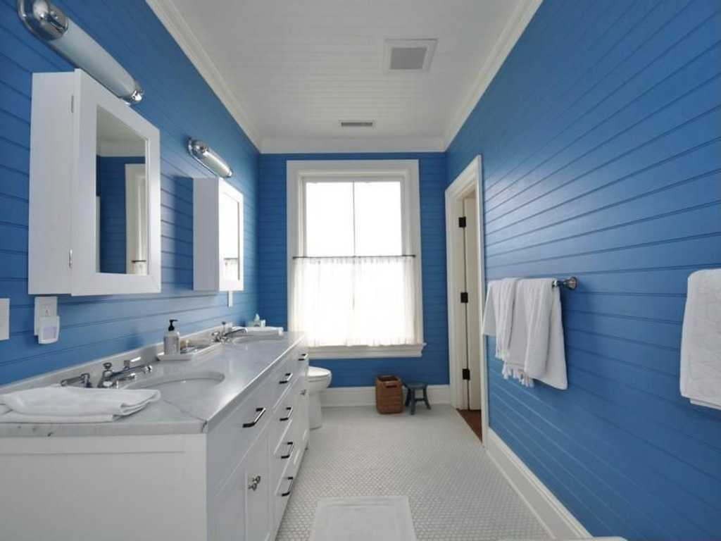 16 Desain Kamar Mandi Warna Biru Langit | RUMAH IMPIAN