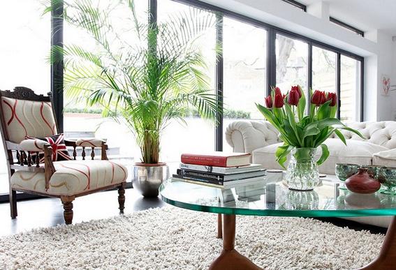 50 hiasan bunga di ruang tamu minimalis modern rumah impian