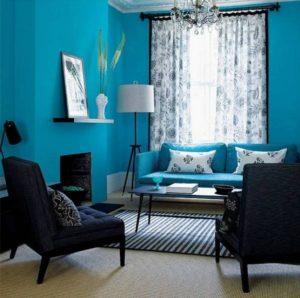 20 dekorasi ruang tamu warna biru muda   rumah impian