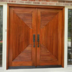 22 Desain Pintu Utama Kayu Jati Modern