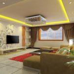 13 Wallpaper Dinding Ruang Tamu Sempit Elegan