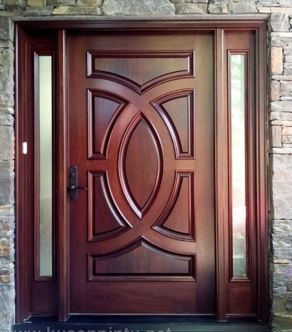 22 Desain Pintu Utama Kayu Jati Modern Minimalis