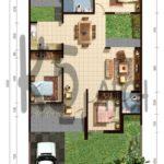 19 Denah Rumah Minimalis Type 45 Satu Lantai 3 Kamar