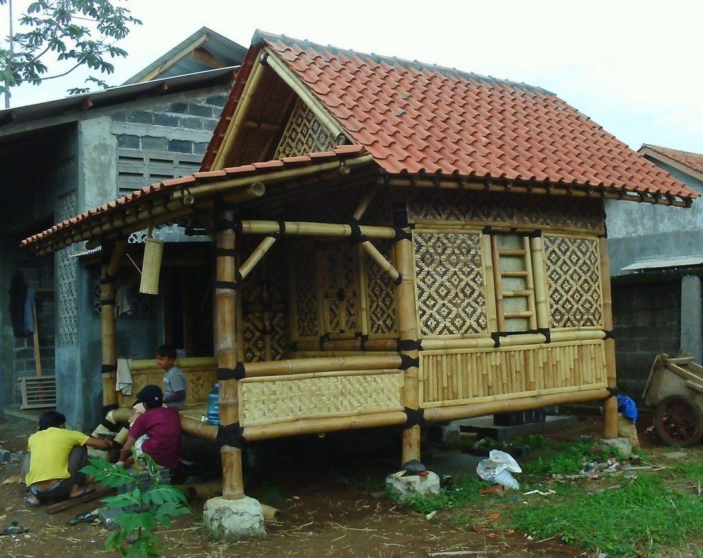 gambar rumah bambu modern - gol rumah