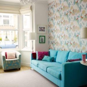 Wallpaper Dinding Ruang Tamu Sempit Elegan
