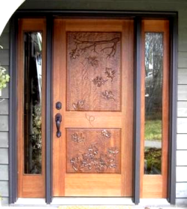 Desain Pintu Utama Kayu Jati Modern