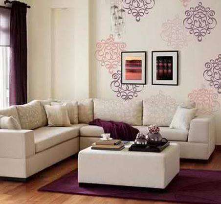 Wallpaper Ruang Keluarga Sederhana  13 wallpaper dinding ruang tamu sempit elegan rumah impian