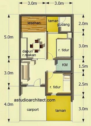 50 sketsa / denah rumah minimalis type 60 | rumah impian