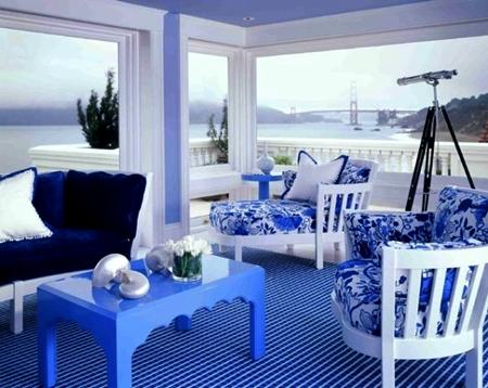 20 dekorasi ruang tamu warna biru muda | rumah impian