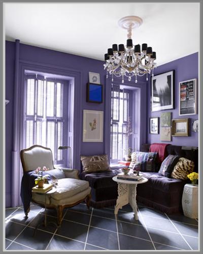 Ruang Tamu Warna Ungu Desainrumahid com
